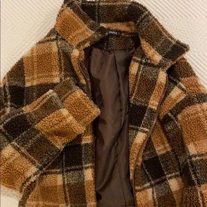 Zaful cropped plaid jacket